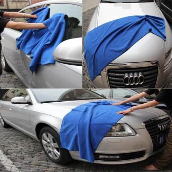 DTG ผ้าเช็ดรถไมโครไฟเบอร์ 60 x 160 cm จำนวน 2 ผืน (สีน้ำเงิน)แถมฟรี ผ้าเช็ดรถ ขนาด 30x70cm 2 ผืน รูบที่ 3
