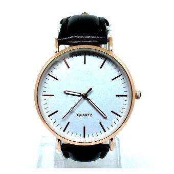 ราคา นาฬิกาแฟชั่น ทรง D.W หน้า 40 mm เรือนทอง สายดำ