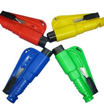 Easbuy New Car Auto Emergency Safety Hammer Belt Window BreakerCutter Escape Tool 4 Colors Random delivery