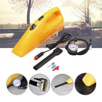 Elit เครื่องดูดฝุ่นรถยนต์พร้อมปั๊มลมอเนกประสงค์ 2in1 Car Vacuum Cleaner รุ่น CVC804 (Yellow)