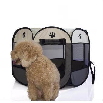 กรงสนามรงสุนัข พับได้ Elitefield Dog Cage Size 73CMx73CMX43CM -(สีเทา/gray)
