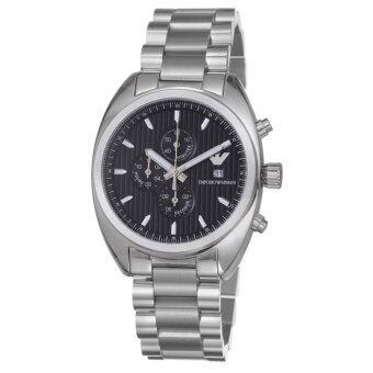 2561 Emporio Armani Men s Quartz Watch AR5957 AR5957 with Metal Strap - Silver(Black)