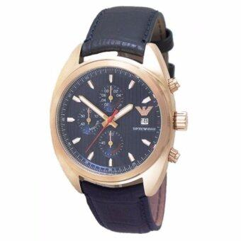 2561 Emporio Armani Sports Chronograph Blue Strap Watch AR5935(Black)