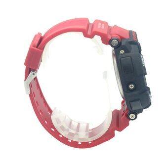2561 Evosport นาฬิกาข้อมือชาย สายยาง 2 ระบบ (เข็มและDigital) - ES20023 (Black-Red)