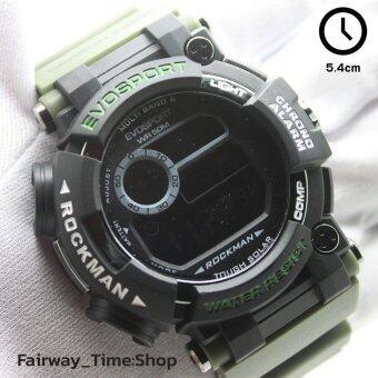 ราคา EVOSPORT นาฬิกาข้อมือแนว SPORT ระบบ DIGITAL สายยางยืดหยุ่นสีสัน กันนํ้า 100% พร้อมกล่อง