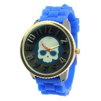 ประเทศไทย EXIT9 นาฬิกาข้อมือ สีน้ำเงิน สายยาง