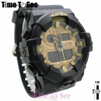 2561 Exponi 2 Time Watch (Tank) นาฬิกาข้อมือผู้ชาย-ผู้หญิงและเด็ก สายยาง ระบบดิจิตอล