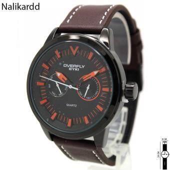 2561 EYKI OVERFLY นาฬิกาข้อมือสุภาพบุรุษ-สุภาพสตรี สายหนัง ทรงกลม ระบบเข็ม/มีวันและวันที่