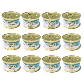 Fancy Feast Gourmet Cat Food-Classic Seafood Feast 85 g 12 canned อาหารแมวโต (050000429349-12)