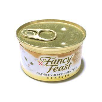 Fancy Feast Gourmet Cat Food-Classic Tender Liver  Chicken Feast 85 g 6 canned อาหารแมวโต (050000429042-6)