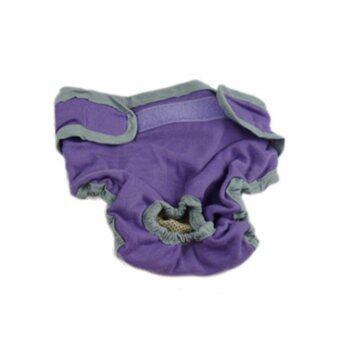 ลดราคา Female Pet Dog Puppy Physiological Sanitary Pant Diaper Underwear Purple XS