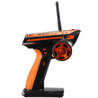 Flysky 3CH 2.4GHz Remote Control with Receiver for RC Car /Boat(Orange) - intl