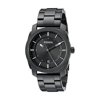 Fossil FS4775 Machine Three Hand Stainless Steel Watch Black - intl