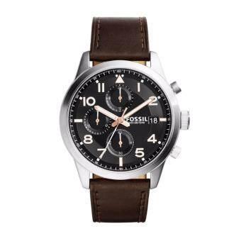 Fossil FS5139 นาฬิกาข้อมมือผู้ชาย สายหนัง สีน้ำตาล