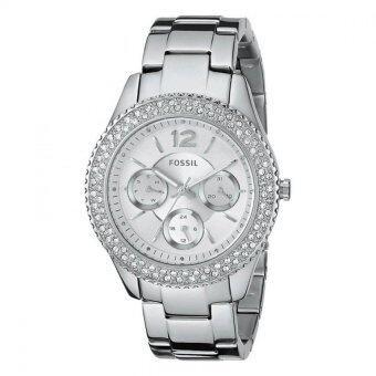 Fossil Womens Analog Display Analog Quartz Silver Watch ES3588