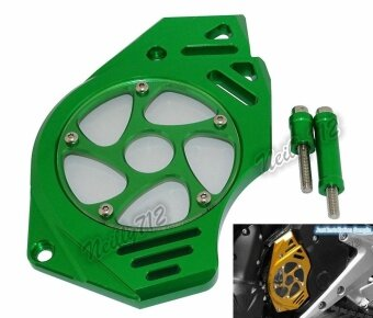 Front Sprocket Chain Guard Cover Left Side Engine For Kawasaki ER6NER6F 2006 2007 2008 2009 2010 2011 2012 2013 2014 2015 2016 2017Green - intl