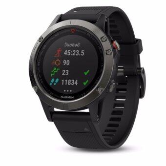 Garmin Fenix 5 Slate Gray with Black Band - ผ่อน