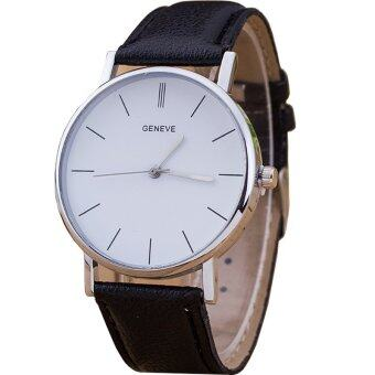GENEVA Women Vintage Watch นาฬิกาข้อมือผู้หญิง สายหนัง รุ่น MG0003(Black)