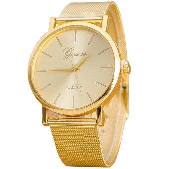 Geneva Women Watch นาฬิกาข้อมือผู้หญิง สีทอง สายแสตนเลส GoldStainless Steel