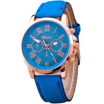 GENEVA Women Watch นาฬิกาข้อมือผู้หญิง สายหนัง รุ่น WATCH X003 - Blue