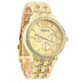 Geneva นาฬิกาข้อมือผู้หญิง WP8502 (Gold) พิเศษแถมซองนาฬิกาสวยหรู