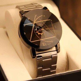 Gracefulvara Charming Women's Compass Stainless Steel Band BlackDial Quartz Analog Wrist Watch