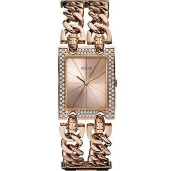 ประเทศไทย Guess Ladies Watch Rose Gold Stainless Steel Strap W0072L3(Black)