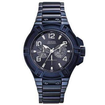 2561 GUESS Men s W0218G4 Rigor Iconic Blue Plated Multi-Function Watch