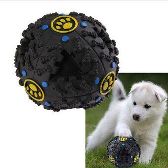 Hanyu สัตว์เลี้ยงอาหารสุนัขส่งเสียงแหลมใส่หมอฝึกเล่นลูกบอลรั่ว ๆอาหารสีดำ