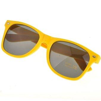 Happycat Retro Sunglasses for Women Colorful Frames Glasses Eyewear (Yellow)
