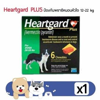 Heartgard PLUS ป้องกันพธาธิหนอนหัวใจ สำหรับสุนัข น้ำหนัก 12-22kg บรรจุกล่องละ 6 เม็ด