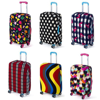 HengSong Stretchable Elastic Travel Luggage Suitcase Protective Cover- Love Hearts Multi-color S Size - intl