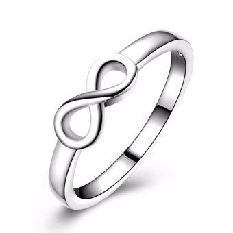 Hequ High Quality Silver Infinity Ring Endless Love SymbolWholesale Fashion Rings For Women - intl