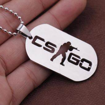 Hequ New Stainless Steel Cs Go Necklace Counter Strike Dog Tag Pendant Neckless Collier Jewelry Game - intl - 2