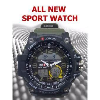 ประเทศไทย $$$ HOT SALES and COOL PRICE $$$ นาฬิกาข้อมือสปอร์ต แบรนด์ DOTCOM (D6007MG) PROFESSIONAL TIME MILITARY SPORT WATCH >>>>> BY D-FRIDAY
