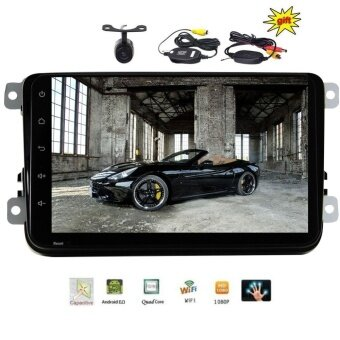 Hotsale 8 inch Android 6.0 Universal Multi-touch Screen Car Stereo NO DVD CD System HD 1080P HD Video in Dash GPS Navigation Wifi OBD2 internet USB SD Mirror Link with FREE Wireless Backup Camera - intl