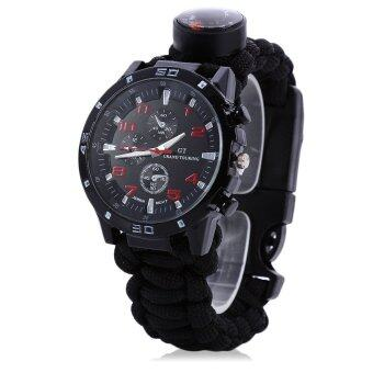 Harga Multifuctional Gear Bangle Watch Survival Paracord Bracelet