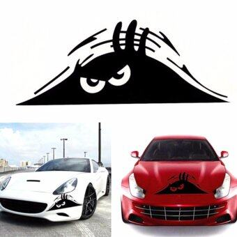 Harga Reflective Waterproof Peeking Monster Car Sticker Vinyl Decal - intl(...)