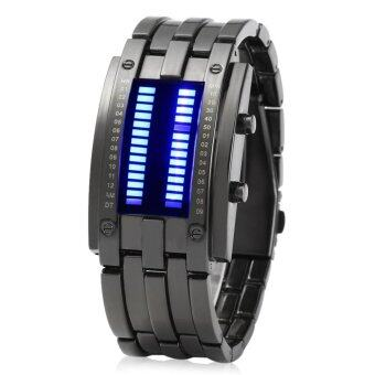 Harga Japanese Movement Hot Lava Water Resistant LED Watch with Stainless Steel Strap - intl