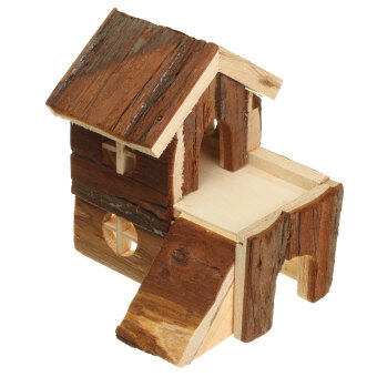 Harga Wooden House Villa Cage Exercise Toys for Hamster Hedgehog MouseRat Guinea Pig 15*14*15cm NEW