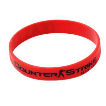 Harga Hequ Game Peripheral CSGO cs go Silicone Rubber Wristb Bangle Fashion Jewelry Gift new chic style Red - intl