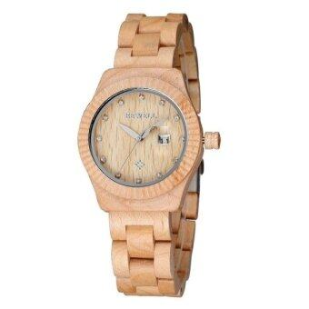 Harga SUNSKY BEWELL 2542 Calendar Display Unique Maple Women Lover Quartz Watch with Wood Band