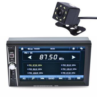 "Harga 2DIN 6.5"" HD In Dash Car TouchScreen Bluetooth Stereo MP3 MP5 Camera - intl"