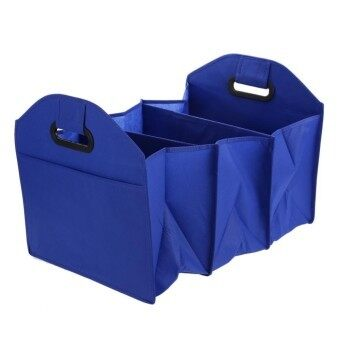 Harga Kithchen Storage Car Trunk Storage Bag Folding Cartons Toolbox (Blue) - intl