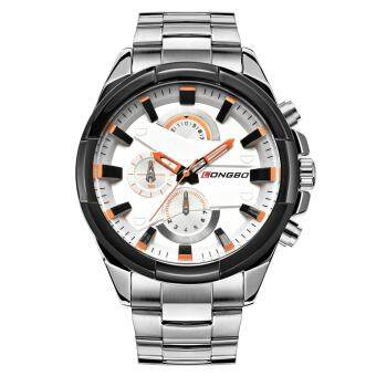Harga LONGBO Man Fashion Stainless Steel Strap Sport Business Casual Quartz Watch For Mans Fashion 80242 - intl