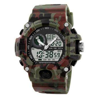Harga TTLIFE Men's Sports Watches Waterproof Fashion Casual Quartz Watch Digital Analog Military Multifunctional Wristwatches - intl