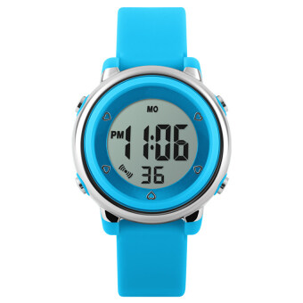 Harga TTLIFE High Quality Popular Brand Colorful Children Fashion Sports LED Digital Water Resistant Watches (blue) - intl