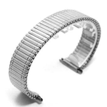 Harga New Silver Stainless Steel Watch Strap Straight End Bracelet 12mm 14mm 16mm 18mm Buckle Watchbands Accessories 14mm - intl