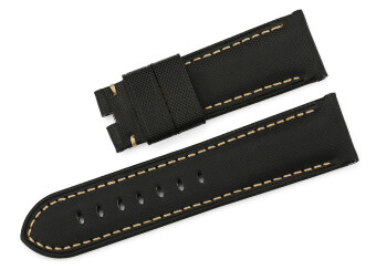 Harga iStrap 24mm Fabric Tan Watch Band Black
