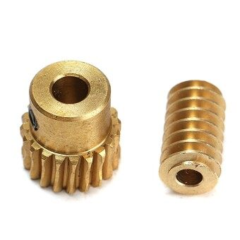 Harga Motor Output Brass Copper Worm Wheel Gear 0.5 Modulus 1:10 Reduction Ratio Gear - Intl